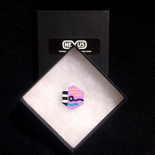 """Brooch Pin #7 - 1.25""""  Hexagonal (Vertical)"""