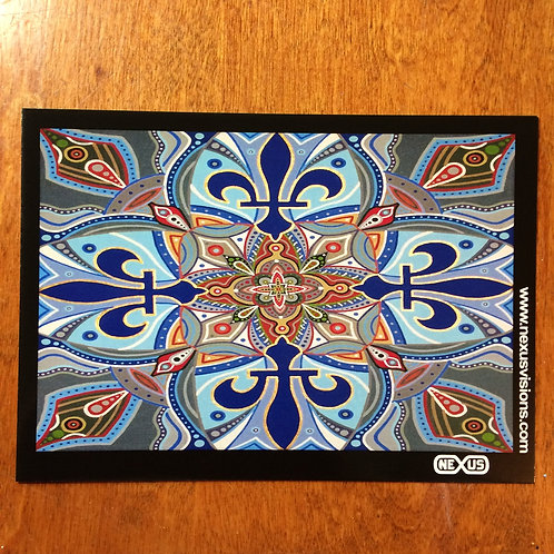 Quebec Mandala 5 x 7 inch print, unsigned, unframed