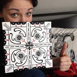 A Happy Custom Mandala Art Patron