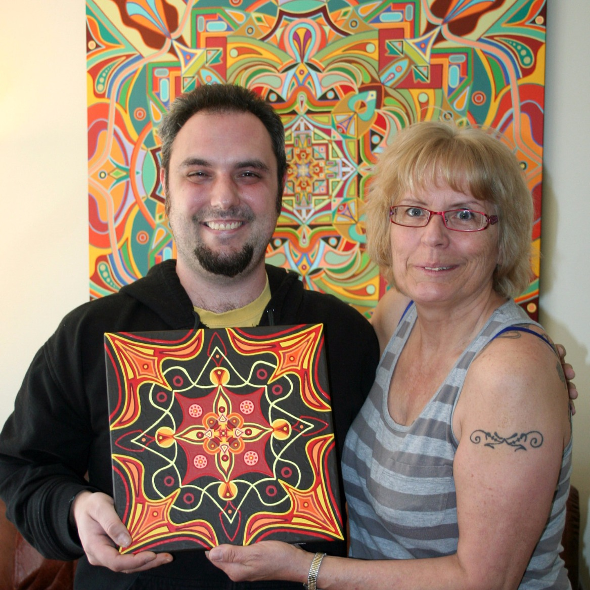 A Happy Custom Mandala Art Patron