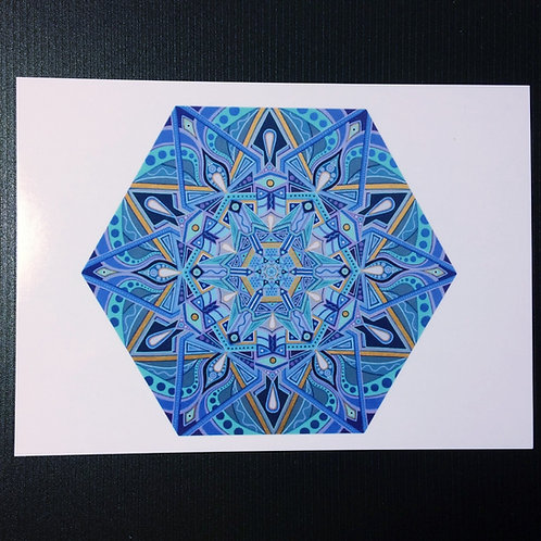 """Galactic Vision Portal"" 5 x 7 inch print"