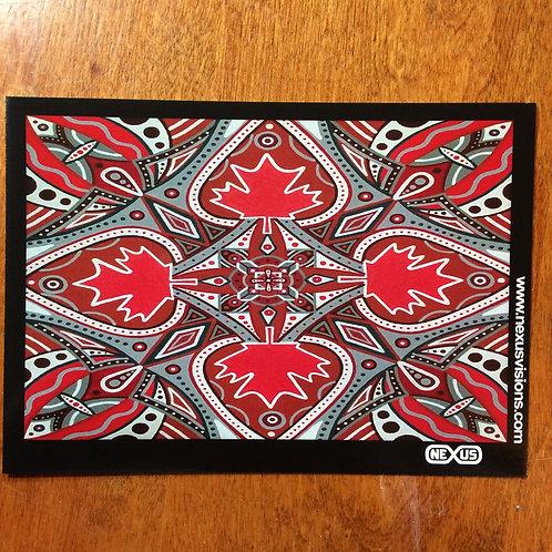 Canada Mandala 5 x 7 inch print, unsigned, unframed
