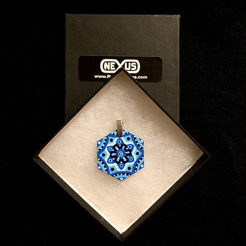 """Pendant #180 - 1.75"""" Hexagonal Mandala"""