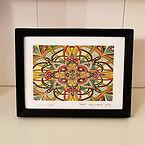 5 x 7 inch Mandala art and 80's inspired prints for sale by artist Adam Millward