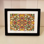 5 x 7 inch Mandala art and 80's inspired prints for sale by artist Adam Millward