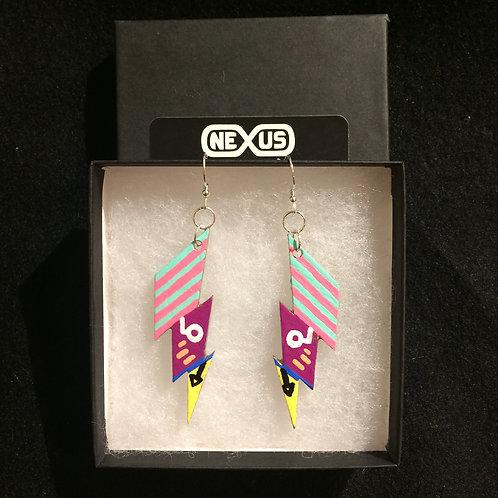 """Earrings #2 - 2.25"""" Lightning Bolts"""