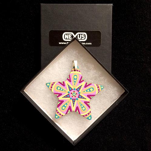 """Pendant #175 - 2.75"""" Star Mandala"""