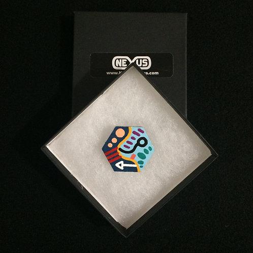 "Brooch Pin #21 - 1.75"" Hexagonal"