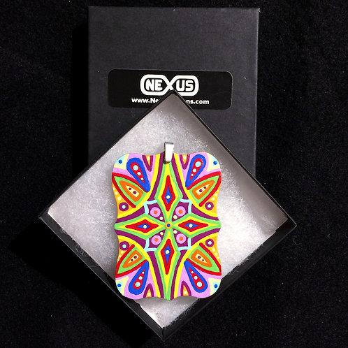 """Pendant #164 - 3"""" Mandala - Rectangular Plaque"""