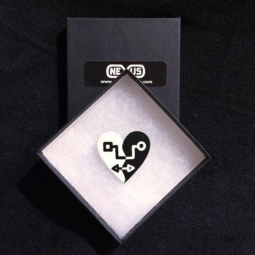 """Brooch Pin #13 - 1.75"""" Heart"""