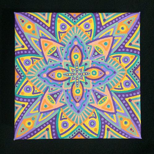 """CELEBRATION"" - 6 x 6 inch acrylic painting on canvas"