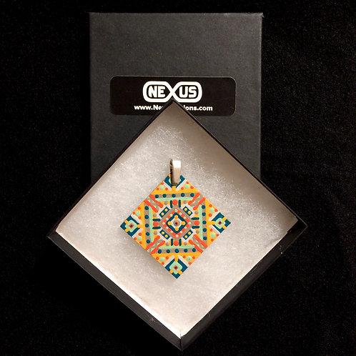 """Pendant #173 - 1.75"""" Diamond Mandala"""