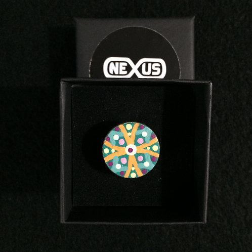 "Ring #29 - .75"" Round Mandala"