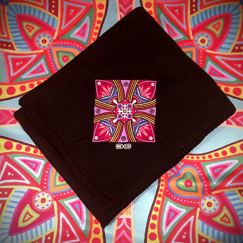 """PEACE LOTUS"" - Embroidery Fleece Blanket"