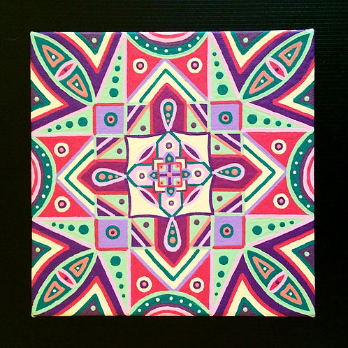 """BERRY BLAST"" - 6 x 6 inch acrylic painting"