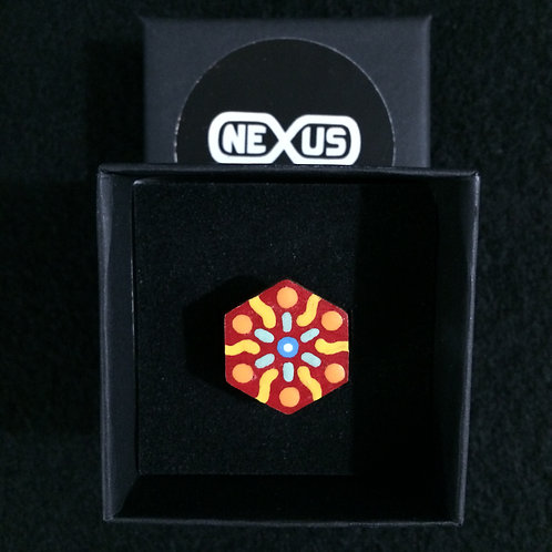 """Ring #30 - .75"""" Hexagonal Mandala"""