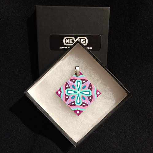 """Pendant 161 - 1.75"""" Diamond Mandala"""