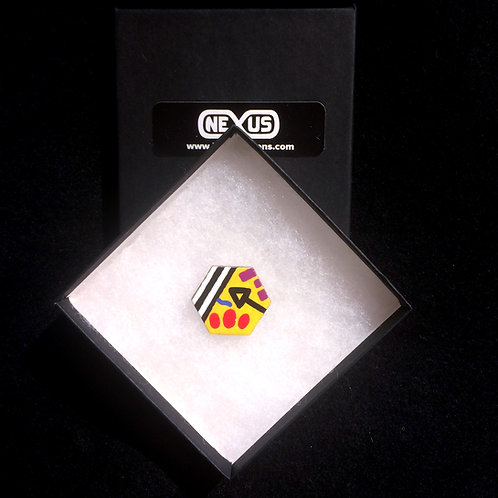"Brooch Pin #8 - 1.25""  Hexagonal (Horizontal)"