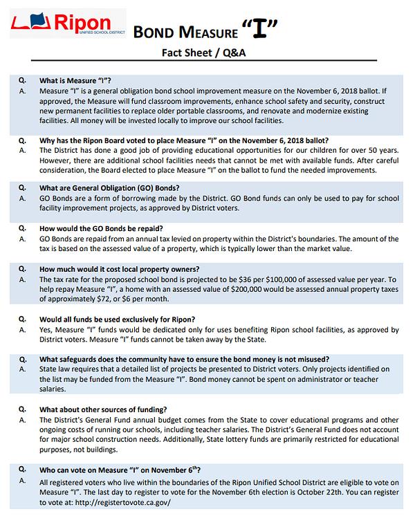 "Measue ""I"" Fact Sheet Q&A"
