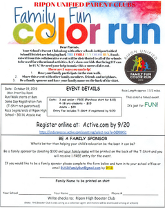 Family Fun Color Run Flyer