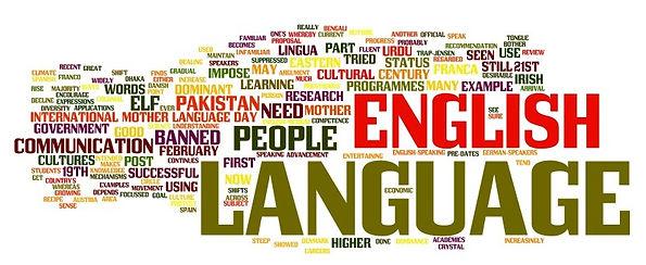 English Language Wordcloud Image