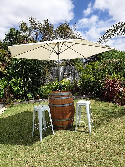 Wine barrel umbrella set