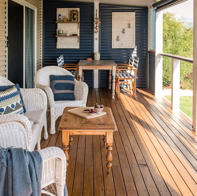 relax of the deck with ocean views