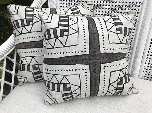 Brown pattern cushion