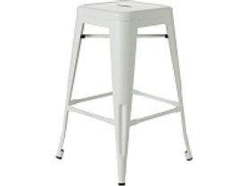 White tolix stool 76cm