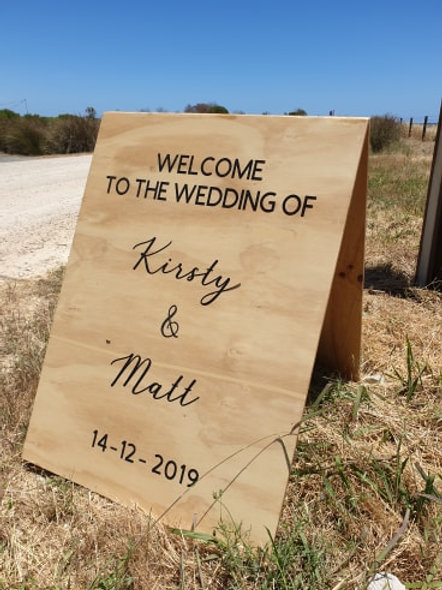 A frame personalised sign
