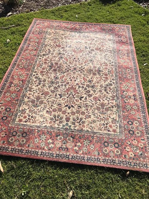 L - pink/cream rug