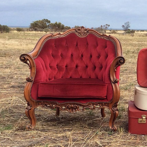 Ruby curved back armchair