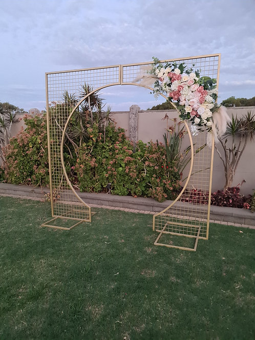 Gold mesh arbour