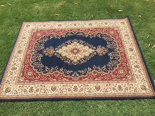 M- blue/red rug