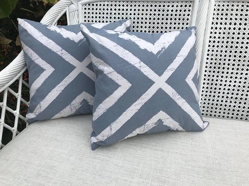 Blue pattern cushion