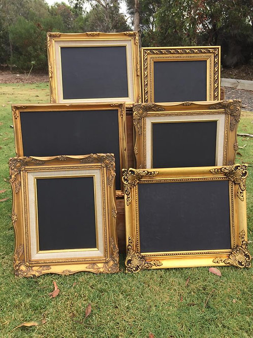 x6 gold chalkboards