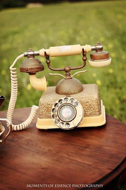 Vintage gold telephone