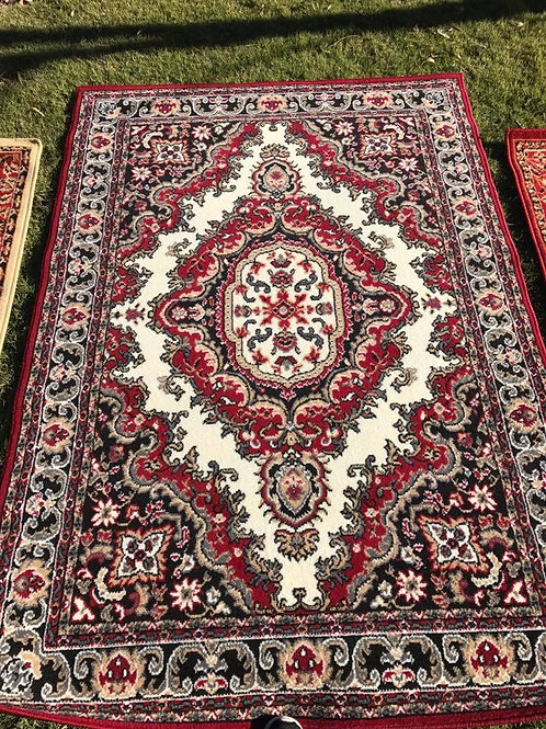 L - red/black rug