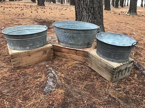 Galvanised drinks tub