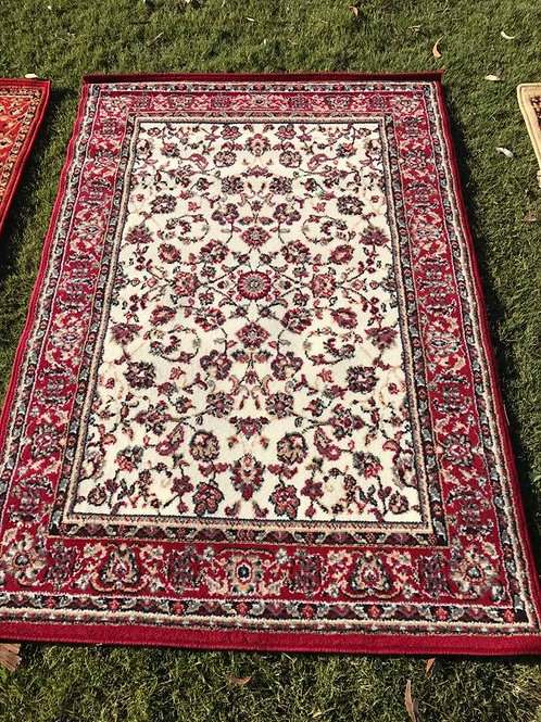 M -Red/white rug