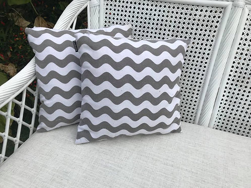 Grey wave cushion