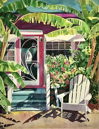 Lynn Ferris Original Watercolor Painting, Fine Art, Conch Cottage
