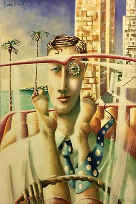 Patrick Cornee, La Bonne Vie, Portraying Trump Towers, Oil on Canvas