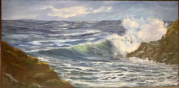 FREDA HEAVEN (Oregon, 20th century) Seascape