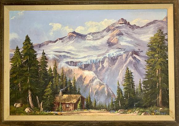 Dorris Carney, 20th Century, Oil on Canvas, Mt. Rainier