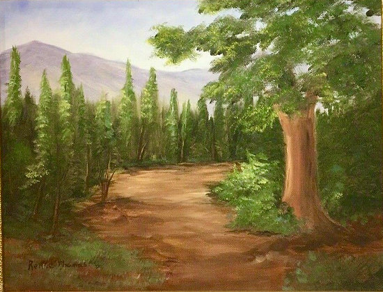Nice Oil on Canvas Art Painting signed Renie Thomas, Grass Valley, California