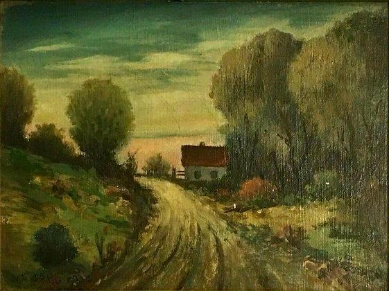 Miles Emil Holmes Oil on Board Painting, Fine Art (American/Swedish, 1885-1952)