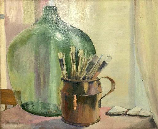 James Gale Tyler Oil on Bard Painting, Still Life, Fine Art, American Artist