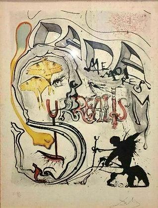 Salvador Dali Angel of Dada Surrealism, Memories of Surrealism, Etching, 64/175