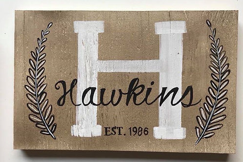 CUSTOM PLANK FAMILY NAME SIGN